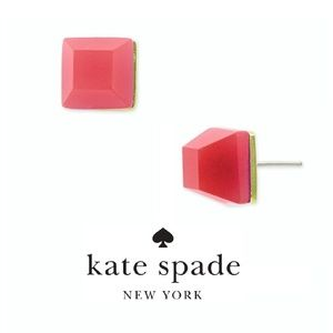 NWT Kate Spade It Takes All Sorts Square Studs Red